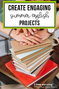 Ditch boring summer English assignments and projects. Find out how to create engaging summer English projects from 2 Peas and a Dog. #summerprojects #middleschool #highschool #lessonplans