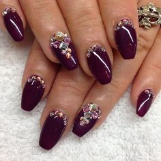 Merlot coffin nails..love the shape, not so much the design.