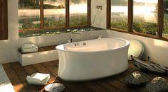 Love the tub, windows, floor, everything!