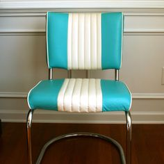 Vintage Turquoise Chair.