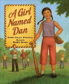 Dan wins a contest. However, her joy is short-lived when the contest officials enforce the For Boys Only rule. Long before the boundary-breaking ruling of Title IX, young women across the United States used grit and determination to prove that barriers of gender have no place on a level playing field. This true-life story gives voice and testament to the spirit of these young sports pioneers. By Dandi Daley Mackall, Illustrated by Benee Graef, 2008.