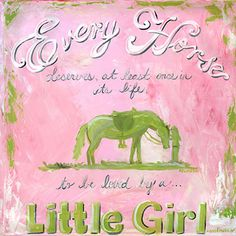 A Girl and Her Horse - Wall Art by Oopsy Daisy.