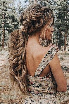 hair peinados 56 Easy and Elegant Braid Hairstyles for School - Fashion Braided Hairstyles For School, Easy Updo Hairstyles, Wedding Hairstyles For Long Hair, Braids For Long Hair, Formal Hairstyles, Easy Elegant Hairstyles, Fishtail Wedding Hair, Boho Hairstyles For Long Hair, Wedding Hairdos