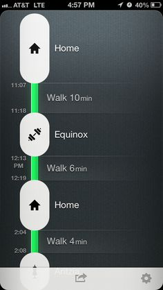 Moves (iPhone) timelines