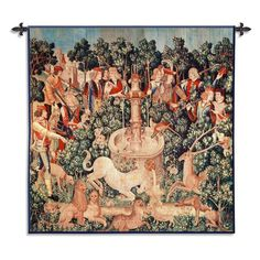 Fine Art Tapestries The Unicorn Is Found Wall Tapestry - 29