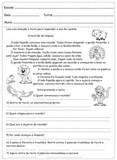 caderninho Atividades de interpretação de texto
