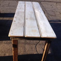 Got enough of this really cool old wood for two tables. For sale today at the @melrosetradingpost #diresta #direstawestcoast #direstashopLA #imake #iliketomakestuff #maker #custom #woodwork #diy #furniture #losangeles #forsale #noho #suckiteasy  http://ift.tt/1Ty2li4 de direstawestcoast