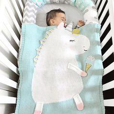 UNICORN blanket Knitted Baby Blanket Merino baby blanket