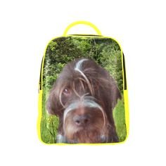 Dog and Flowers Popular Backpack. FREE Shipping. #artsadd #lbackpacks #dogs
