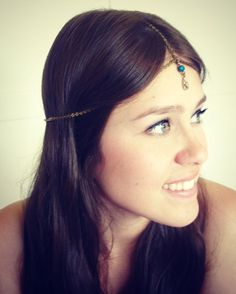 CHAIN HEADPIECE- chain headdress. $40.00, via Etsy.