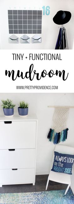 I love this tiny mudroom! Every space in a family house should be fun and functional and this one totally is!