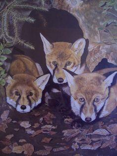 """""""Le tre volpi"""" di R. Mendicino (olio su tela) 60x80"""