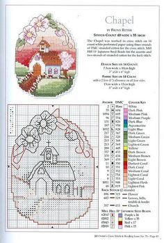 Little Chapel cross stitch pattern Cross Stitch House, Mini Cross Stitch, Beaded Cross Stitch, Cross Stitch Charts, Cross Stitch Designs, Cross Stitch Embroidery, Embroidery Patterns, Cross Stitch Patterns, Cross Stitch Landscape