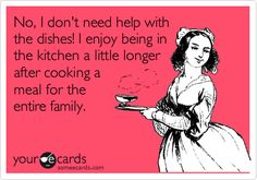 I love cooking after I go to school and then go to work every day. Cleaning up is awesome too. ha.