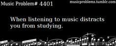 The reason why I don't listen to my favourite music while studying I Love Music, Sound Of Music, Listening To Music, Music Is Life, Music Humor, Music Memes, Music Quotes, Funny Music, Musician Jokes