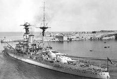 HMS Royal Oak, Malta 1937.