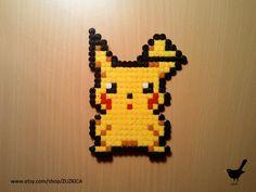 Pokemon Pikachu made from Hama Beads by ZUZKICA on Etsy, $5.00