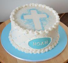Gâteau de baptême pour garçon.