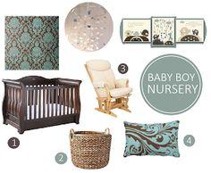 Oh So Amelia | UK Parenting Lifestyle Blog: Teal & Brown Nursery