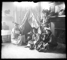 1908 Halloween ladies