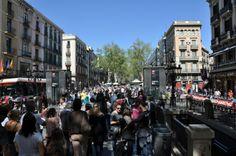 Las Ramblas ist jeden Tag voll (c) Foto von M.Fanke