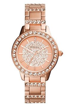Fossil 'Jesse' Crystal Accent Bracelet Watch, 34mm available at #Nordstrom