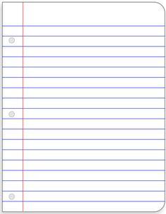 Adaptable image regarding notebook paper printable