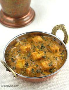 Garlic Flavored Methi Paneer - Easy Paneer Curry Recipe with Step by Step Photos