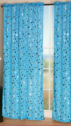 Blue Rock It Curtain Panel - Set of Two