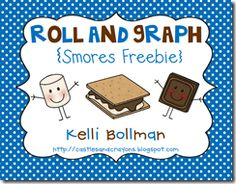 S'mores Roll and Graph activity. Perfect for beginning of the year math activity with my classroom camping theme.
