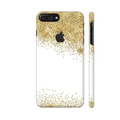 Gold Foil Confetti 5 Phone Case Back Cover For Apple iPhone 7 plus with hole for logo Mobile | Artist: UtART
