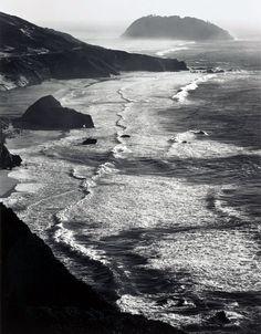 Ansel Adams, Storm, Point Sur, Monterey Coast CA, 1942