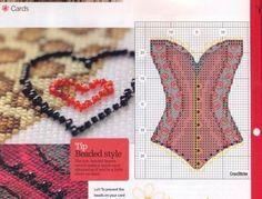 point de croix - cross stitch corset