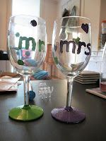 Anniversary wine glasses my friend made.  She's amazing at this stuff....check out her blog     @sprinklesonmyjello.blogspot.com