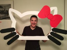 DIY hello kitty photo booth attempt