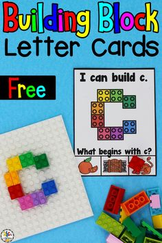 Are you looking for a fun, hand-on letter recognition activity? Your preschoolers and kindergartners are going to love learning the ABC's as they use these Building Blocks Lowercase Letter Cards to construct the letters of the alphabet. This hands-on activity is a great way for kids to develop their fine motor skills, hand and eye coordination, and dexterity too. Click on the picture to get these free letter recognition cards! #letterrecognition #preschool #alphabetactivity #finemotorskills