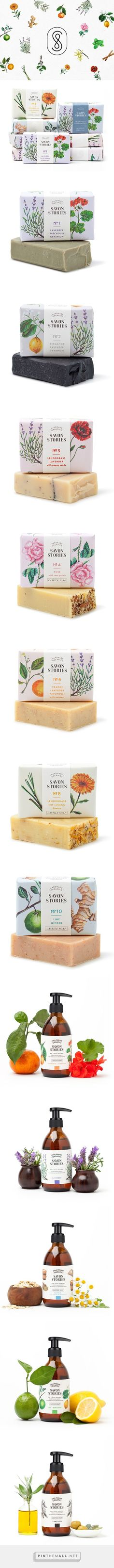 Really love this branding. Savon Stories soaps by Menta. #packaging #design