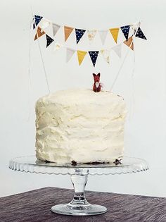 Woodland Fabric Bunting Cake Topper