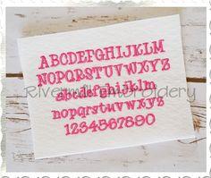 "$2.95Small Mini Maddie Machine Embroidery Font Alphabet - 1/2"""