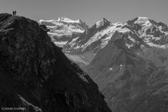 Mark Shapiro Photography - Hikers in front of Combin Massif - 'For The Wall' PlusShop Collection - Combins Mount Everest, Backdrops, Mountains, Wall, Photography, Travel, Collection, Photograph, Viajes