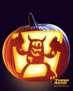 """Conga Monsta"" pattern from the Pumpkin Masters Pumpkin Carving Kit."