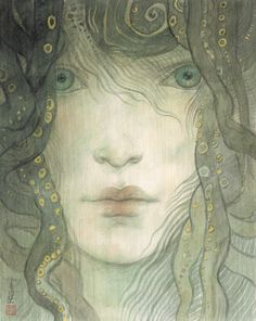"""""""The Benieth"""" new work by Rebecca Guay at the R, Michelson Galleries. September - October 2013 Featuring non-illustration work including oil paintings, monotypes, and prints."""