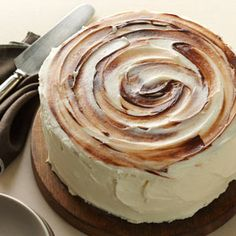 Marvelous Marble Cake, with melted chocolate swirled into the frosting & the cake batter is a buttery pound cake!