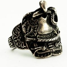 Saddle Ring Vintage Western Sterling Silver Ring  Size by Spoonier, $47.00