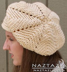 Vintage crochet pattern of a beret, mainly consisting of the ripple stitch.
