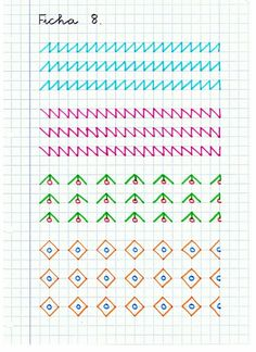 Caligrafía: Material de refuerzo (I) Notebook Drawing, My Notebook, Improve Handwriting, Handwriting Practice, Pre Writing, Writing Skills, Hand Writing, Bullet Journal Banner, Graph Paper Art