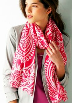 Substitute your long dupattas with soft cotton scarves as they are easy to manage and more likely to keep you warm. Check scarves are a must this season.