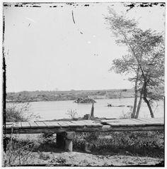 Sunken Confederate Ships Virginia (Ram) and Jamestown - James River, VA