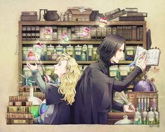 Severus Snape and Luna Lovegood by ジル@ついったー ( jill_s_alg)