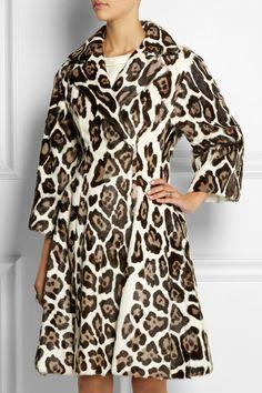 Giambattista Valli Goat Hair Leopard-Print Coat
